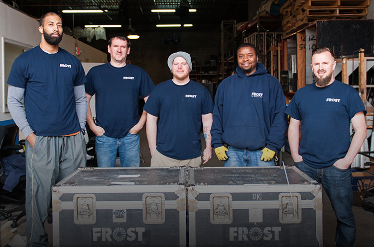 Warehouse Crew with Hunter MacPherson (center), Warehouse Manager